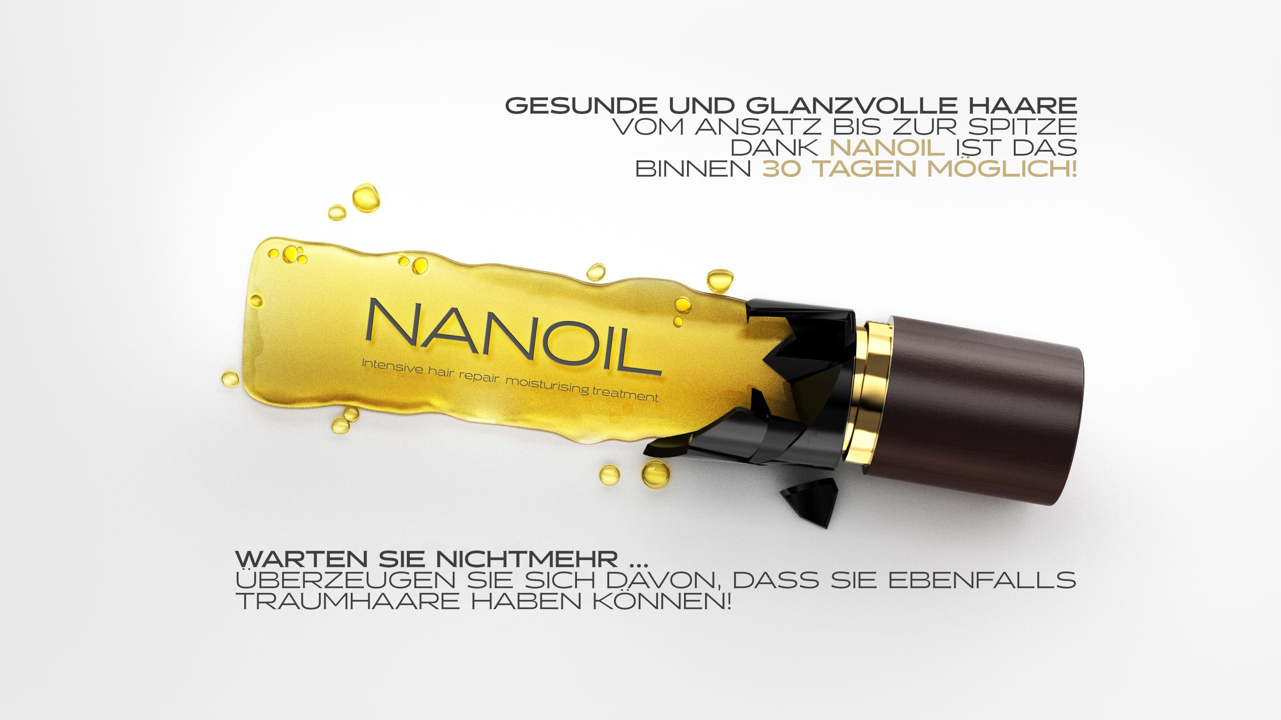 Nanoil für Haare mit hoher Porosität